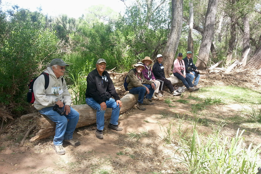 Birders at San Pedro House